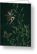Ditchweed Fairy Hello Butterfly Greeting Card