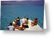 Diveboat At Little Cayman Greeting Card