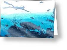 Diver Greeting Card
