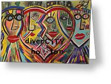 diverCITY is hoUSton Greeting Card