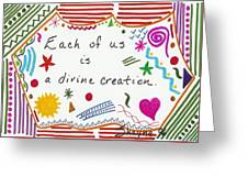 Divine Creation Doodle Quote Greeting Card