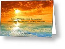 Divine Light - Ss1200b Greeting Card