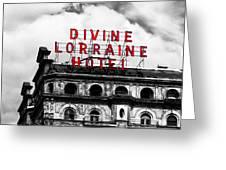 Divine Lorraine Hotel Marquee Greeting Card