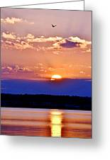 Divine Sunset On The Indian River Bay Greeting Card