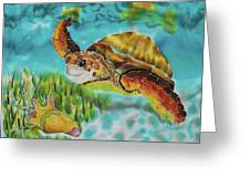 Diving Conch Greeting Card