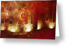Diwali Card Lamps And Murals Blue City India Rajasthan 2g Greeting Card