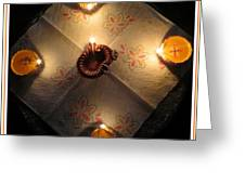Diwali Lamps Greeting Card