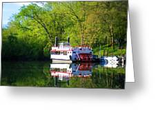 Dixie Belle River Boat Greeting Card