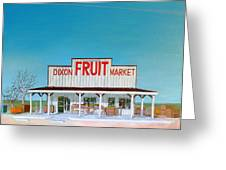 Dixon Fruit Market 1992 Greeting Card by Wingsdomain Art and Photography