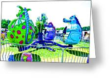 Dizzy Dragon Ride 2   Greeting Card