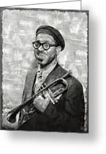Dizzy Gillespie Vintage Jazz Musician Greeting Card