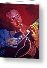Django Sweet Lowdown Greeting Card by David Lloyd Glover