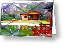 Djg-0004 Pavilion View Of Teahouse Greeting Card