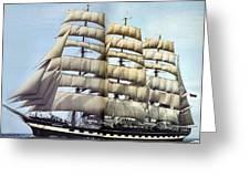 dk tall ships kruzenshtern barque lyr 1926 full D K Spinaker Greeting Card