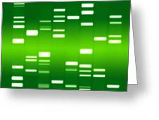 Dna Green Greeting Card by Michael Tompsett