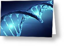 Dna Structure Illuminated Greeting Card