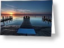 Dnr West Boat Launch Sunrise Greeting Card