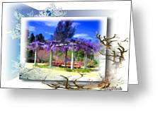 Do-00013 Wisteria Branches Greeting Card