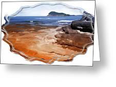 Do-00016 Pearl Beach Greeting Card