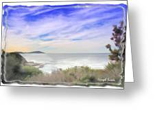 Do-00018 Look Out At Terrigal Greeting Card