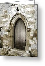 Do-00055 Chapels Door In Morpeth Village Greeting Card