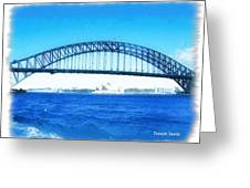 Do-00057 Harbour Bridge Greeting Card