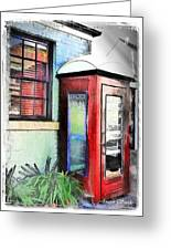 Do-00091 Telephone Booth In Morpeth Greeting Card