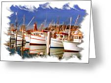 Do-00096 Boats In Nelson Bay Early 90s Greeting Card