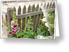Do-00099 Fence-flowers Greeting Card