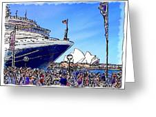 Do-00100 A Ship And Opera House Greeting Card