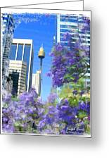 Do-00106 Spring In Sydney Greeting Card