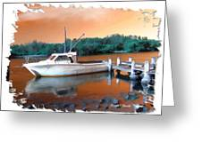 Do-00108 Boat At Sunset Greeting Card