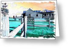 Do-00120 Side Gate In A Farm Greeting Card