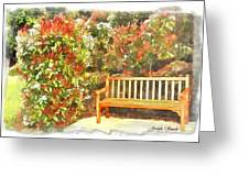 Do-00122 Inviting Bench Greeting Card