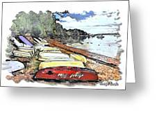 Do-00124 Tender Boats Greeting Card