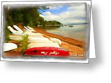 Do-00125 Tender Boats Greeting Card