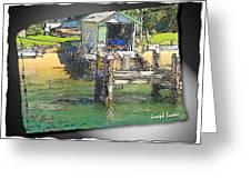 Do-00128 Boatshed At Brisbane Water Greeting Card
