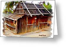 Do-00129 Old Cottage Greeting Card