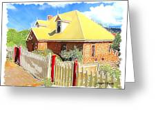 Do-00142 House And Fence Greeting Card