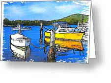 Do-00147 Resting Boats Greeting Card