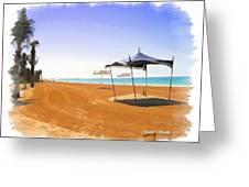 Do-00155 Beach At Royal Mirage Hotel Greeting Card