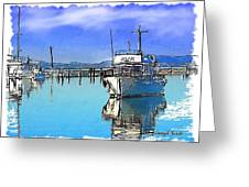 Do-00231 Hvk Boat Gosford Greeting Card