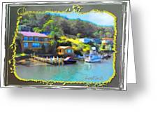 Do-00243 Houses On Brisbane Water Greeting Card