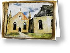 Do-00247 Church At Port Arthur Greeting Card