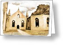 Do-00248 Church At Port Arthur Greeting Card