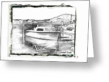 Do-00250 A Boat Greeting Card