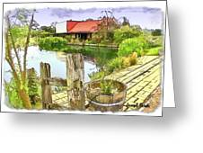 Do-00251 A Farm In Hunter Valley Greeting Card