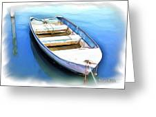 Do-00269 Boat In Killcare Greeting Card