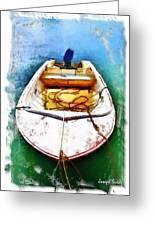Do-00277 Boat In Hardys Bay Greeting Card