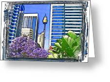 Do-00285 Sydney Centre Tower In Spring Greeting Card